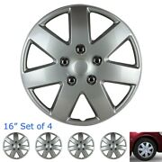 [set Of 4] Buick 15 Otto Snap/clip-on Wheel Covers Tire Rim Hubcaps Case Silver