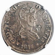 1816-carp, Mexico War Of Independence. Silver 8 Reales Coin. Rare Ngc Xf-45