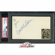 Carroll Baker Signed Auto 3x5 Index Card Psa/dna Actress Baby Doll