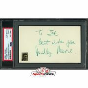 Dudley Moore D.2002 Signed Auto 3x5 Index Card Psa/dna Actor Arthur