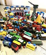 Huge Lot Thomas The Train And Friends Railway Deluxe Roadhouse Tracks And Buildings