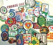 Patches X 52 Girl Scouts Are Power Future Fun Proud Heart Beauty, Choose One