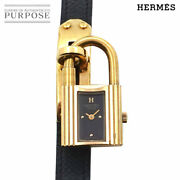 Battery Replacement Already Hermes Kelly Watch Vintage Women And039s Wristwatch Black
