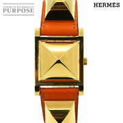 Battery Replacement Already Hermes Medor Vintage Women And039s Wristwatch Pyramid