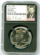 2021 P Kennedy Ngc Ms68 Pl Half Dollar Retro Signature Label First Releases