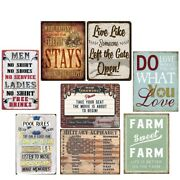 Pool Rules Vintage Metal Tin Signs Now Showing Retro Plate Art Wall Decor