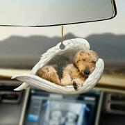Airedale Terrier Dog Sleeping In Wings Angel Funny Gift Car Hanging Ornament
