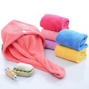 Bath Tool Womenand039s Solid Quick-drying Hair Hat Color Coral Fleece Bath Hair Towel