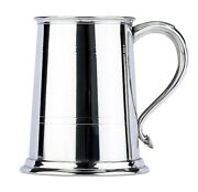 Commodore Fine English Pewter Tankard With Swan Handle Beer Mug Made In England
