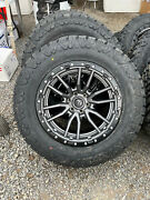 20x10 Fuel D680 Gray Rebel Wheels 35 Amp At Tires 6x5.5 Chevy Suburban Tahoe