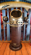 Antique Brass Ship Binnacle Compass And Stand Us Navy Mark 1 1940 Lionel