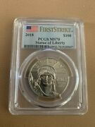 2018 First Strike Liberty Platinum 100 Coin Pcgs Ms70