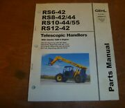 Gehl Rs10-44 Rs10-55 Telescopic Handlers With Tier 4 Engine Parts Catalog Manual