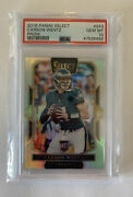 2016 Panini Select Carson Wentz Field Level Silver Rookie Card Rc Ssp Psa 10