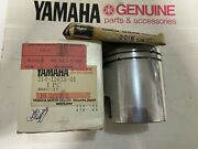 Genuine Yamaha ,oem,nos, Piston And Ring,1 O/s,214-11635-01,214-11601-13, Dt1