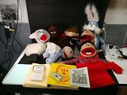 Lot Of 8 Vintage Puppet Productions Puppets With Stories And Instructions