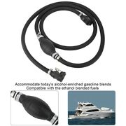 Outboard Boat Motor Fuel/gas Hose Line Assembly Marine 3/8 With Primer Bulb