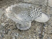 12andrsquo Fostoria Crystal 1.75 Gallon Footed Tom And Jerry Punch Bowl
