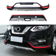 For Nissan Rogue 2017-2020 Blackandred Front Rear Skid Plate Bumper Board Guard 2x