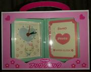 Hello Kitty Angel Blue Book Clock Type Photo Stand Rare Sanrio From Japan