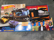 Mattel-hot Wheels Fast And Furious Spy Command Hauler Play Set Transporter Toy Car