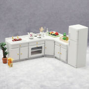 112 Scale Wood Dollhouse Kitchen Cabinets Model Decor Ornament Parts Gifts