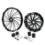 30 Front 18and039and039 Rear Wheel Rim And Disc Hub Fit For Harley Electra Glide 2008-2021