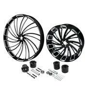 30 Front 18and039and039 Rear Wheel Rim W/ Disc Hub Fit For Harley Street Glide 2008-2021