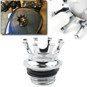 Cnc Crown Gas Cap Fuel Tank Cover Right-hand Thread Chrome For Harley Sportster