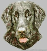 Embroidered Short-sleeved T-shirt - Flat-coated Retriever Dle1532
