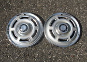 Lot Of 2 Factory 1965 1966 Ford Falcon 14 Inch Hubcaps Wheel Covers