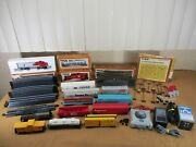 Vintage Bachmann And Tyco Ho Scale Trains Santa Fe Engine And Cars Huge Lot And More +