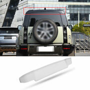 Fit For 2020-2021 Defender 110 Silver Abs Roof Boot Spoiler Wing Flap Trim 1pcs