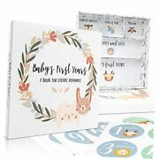 Adorable Baby Memory Book With Keepsake Boxes And Stickers - Capture All Your