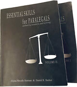 Essential Skills For Paralegals By Alyssa Navallo Herman And Daniel R. Barber