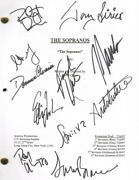 The Sopranos Tv Cast - Script Signed With Co-signers