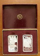 2 Wittnauer Silver Art Bars Ten Precious Freedoms Right To Privacy/trail By Jury
