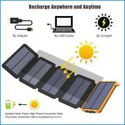 Solar Power Bank With Multiple Solar Panels Charger Solar Phone External Battery
