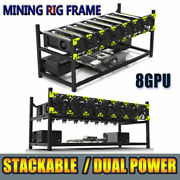 Veddha 8 Gpu Stackable Open Air Mining Rig Frame Case Computer Ethereum Btc Rack