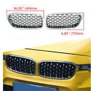 Chrome Bumper Front Kidney Grille Grill Diamond Fit Bmw F30 F31 2012-15 16 2017