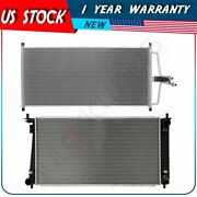 Radiator And Ac Condenser Kit For 1997-1998 Ford F-150 F-250