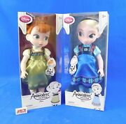 Lot Of 2 Frozen Dolls- Anna And Elsa Disney Animator's Collection Disney Store New
