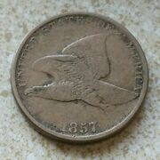 1857 - Flying Eagle Penny - One Cent Q421