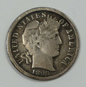 1895-o Barber Dime Fine Silver 10-cents Desirable Date