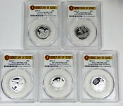 2016-s National Park Silver Quarters Pcgs Pr70 Dcam 1st Day Of Issue