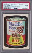 1973 Topps Wacky Packs Maddie Boy Psa 7.5 Nm+ Packages Rare Tan Back 1/1 1 Hgr