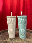 Starbucks Studded White And Mint Cold Cup Bundle