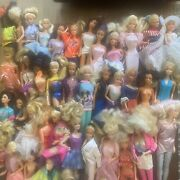 Large Lot 1980and039s/90and039s Barbie And Ken Dolls Over 50 Dolls And Tons Of Accessories