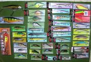 Huge Fisherman's Lot Of Lures And Tackle Rapala Crankbaits-spinners And More+bonus