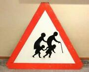 Banksy / Road Sign / Sign On The Back Of The Stencil
